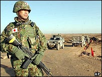 A Japanese soldier in Iraq