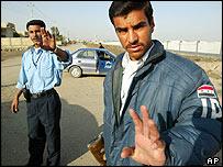 Iraqi police in Samawah