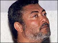 Former President of Ghana Jerry Rawlings