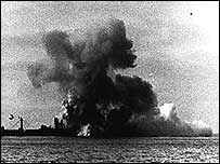 Attack on unidentified ship in Arctic convoy