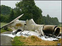 Crashed Russian jet