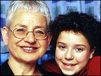 Jacqueline Wilson and actress Danielle Harmer who plays Tracy Beaker