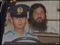 Shoko Asahara in detention, July 1995