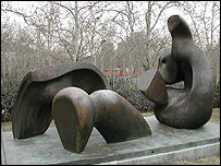 Piece by Henry Moore in Tehran