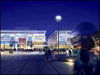 Artists impression of how Millennium Square will look