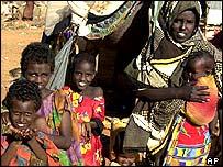 Somali refugee family