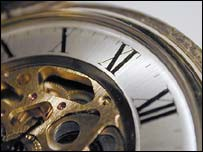 Close-up of watch, BBC
