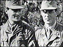 Sir Patrick and Stanley Moss in German uniform on Crete