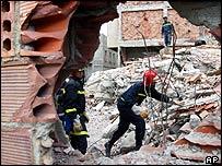 morocco quake rescuers