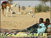 Darfur refugees in neighbouring Chad