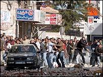 Palestinian protesters, Ramallah