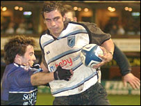 Cardiff Blues fly-half Nicky Robinson