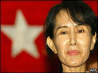 File photo of Burmese democracy leader Aung San Suu Kyi