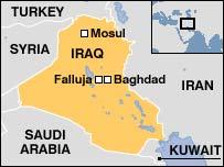 Map of Falluja