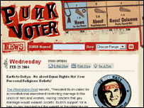 The Punk Voter coalition website