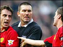 Gary Neville was sent off