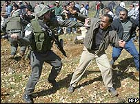 Clashes between Israeli troops and anti-barrier protesters