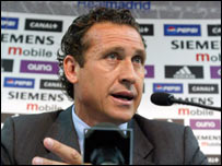 Jorge Valdano, director deportivo del Real Madrid