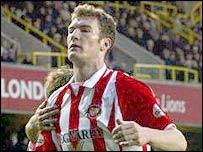 Sunderland striker Kevin Kyle