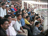 Crowds at India's world-cup qualifier