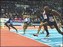 Justin Gatlin wins the 60m title last year