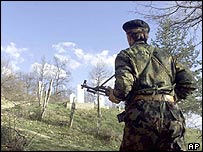 A KLA ethnic Albanian rebel fighter