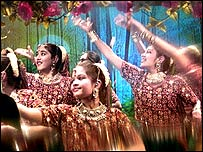 Hindu children from a London school performing a traditional dance
