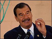 Vicente Fox, presidente de M�xico.
