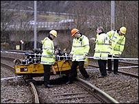 Investigators at the Tebay crash scene