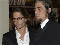 Johnny Depp and Benicio Del Toro
