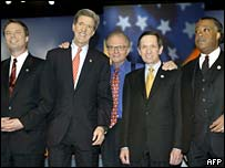 John Kerry, John Edwards, Al Sharpton, Dennis Kucinich
