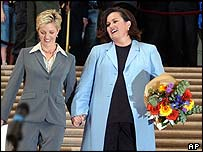 Kelli Carpenter and Rosie O'Donnell