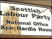 Scottish Labour Party HQ sign