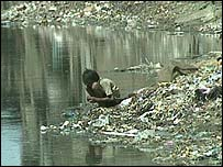 Polluted Indian river