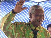 Nelson Mandela in the �madiba' shirt