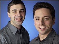 Larry Page (left) and Sergey Brin, Google founders