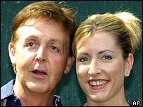 Sir Paul McCartney and wife Heather