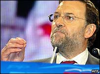 Front-runner Mariano Rajoy of Popular Party