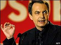 Socialist candidate Jose Luis Rodriguez Zapatero