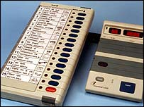 Indian electronic voting machine