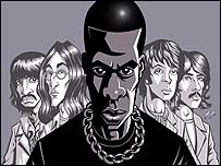 Jay-Z and The Beatles by artist Justin Hampton