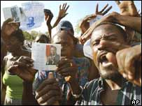 Supporters of Jean-Bertrand Aristide