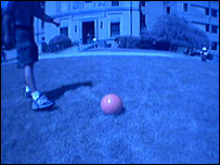 View of the ball from the robotic Segway (Image: Coral Lab, Carnegie Mellon University)