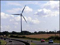 UK wind turbine by road   PA