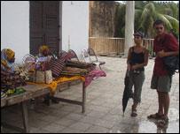 Tourists in Zanzibar