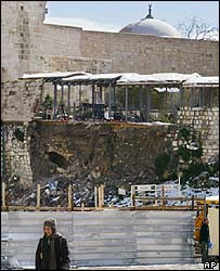 Damaged ramp in Jerusalem