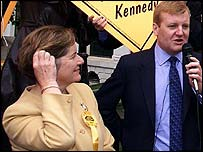 Jenny Tonge with LibDem leader Charles Kennedy