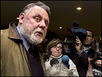Terry Waite at Beirut International Airport