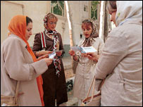 Young women in Tehran