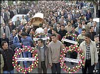 Funeral of Nablus mayor's brother, Barraq
